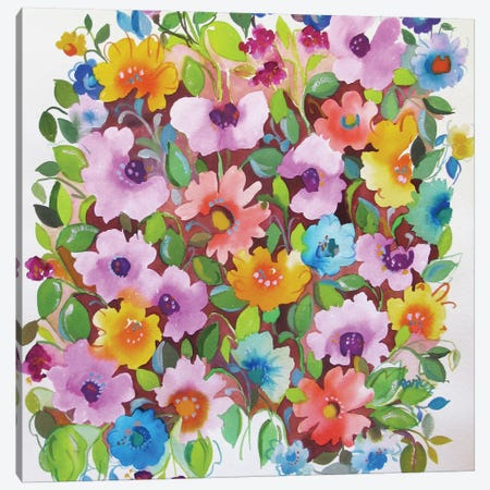 Summer Violets Canvas Print #KPA40} by Kim Parker Canvas Art