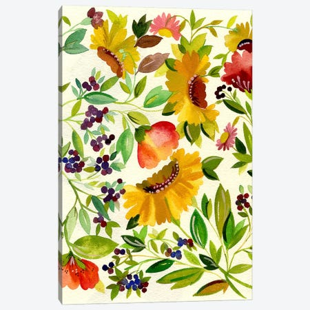 Sunflowers Canvas Print #KPA43} by Kim Parker Canvas Artwork