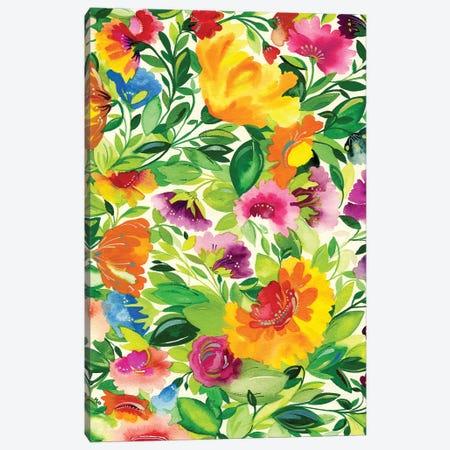 July Bouquet Canvas Print #KPA45} by Kim Parker Canvas Art Print