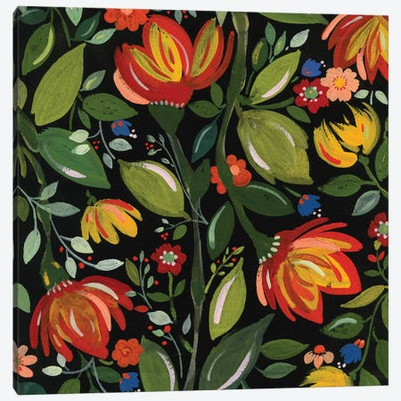 Haitian Flowers Canvas Print #KPA54} by Kim Parker Canvas Art