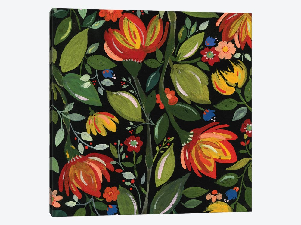Haitian Flowers by Kim Parker 1-piece Canvas Art