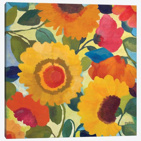 Market Flowers I Canvas Print #KPA55} by Kim Parker Canvas Art