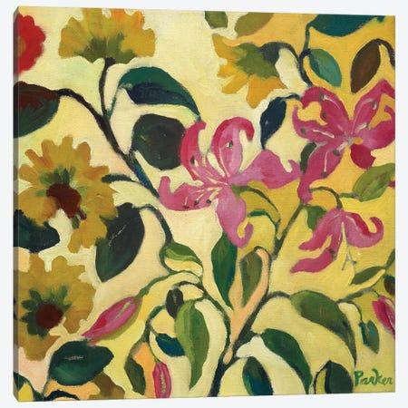 Pink Lilies Canvas Print #KPA57} by Kim Parker Canvas Artwork