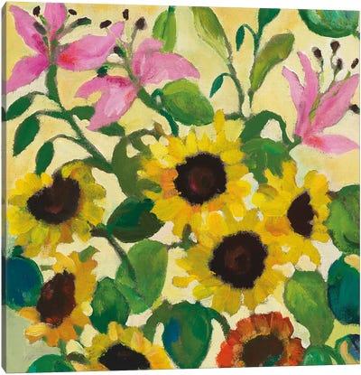 Sunflowers & Lilies Canvas Art Print
