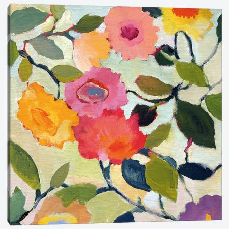 Wild Roses Canvas Print #KPA60} by Kim Parker Canvas Wall Art
