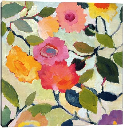 Wild Roses Canvas Art Print