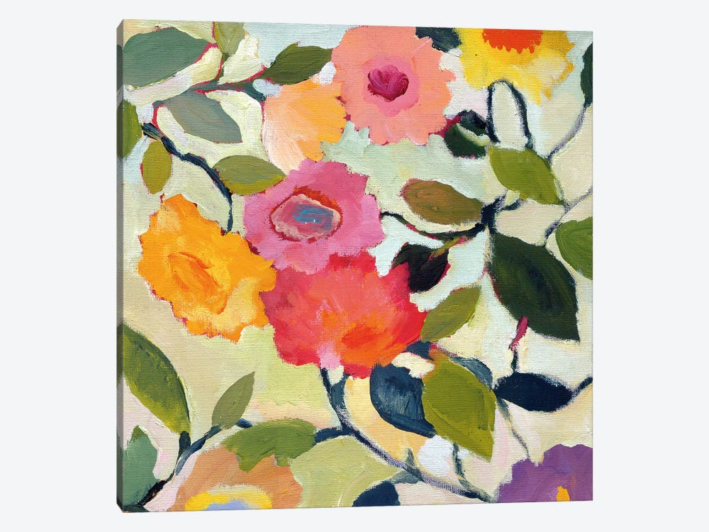 Wild Roses by Kim Parker 1-piece Canvas Print