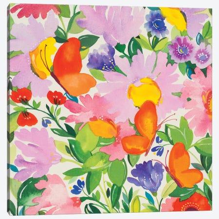 Butterflies & Echinacea Canvas Print #KPA64} by Kim Parker Art Print