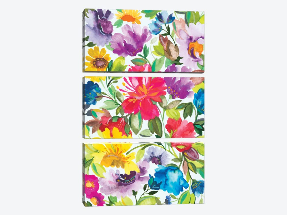 Hibiscus by Kim Parker 3-piece Canvas Art