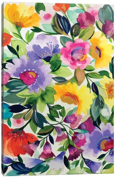 Lavender Zinnias Canvas Art Print