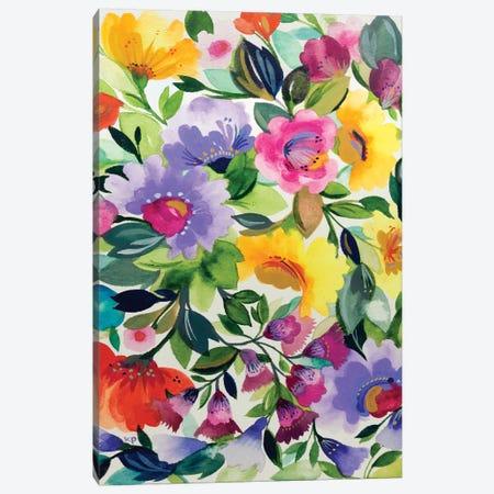 Lavender Zinnias Canvas Print #KPA67} by Kim Parker Canvas Art Print