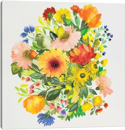September Garden Bouquet Canvas Art Print