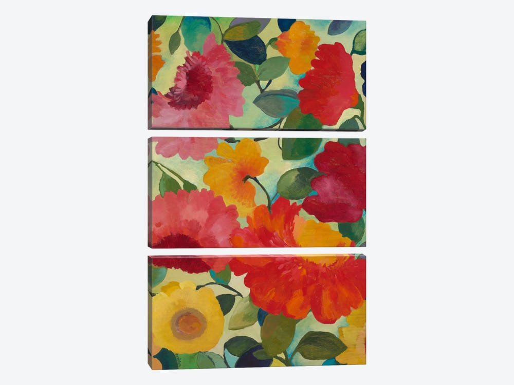 Love Flowers I by Kim Parker 3-piece Canvas Artwork