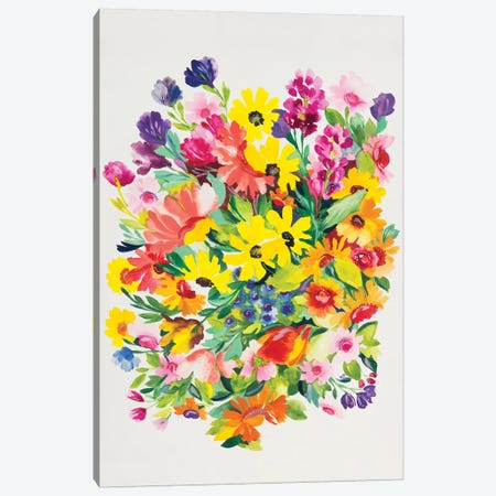 Snapdragons & Zinnias Canvas Print #KPA70} by Kim Parker Art Print