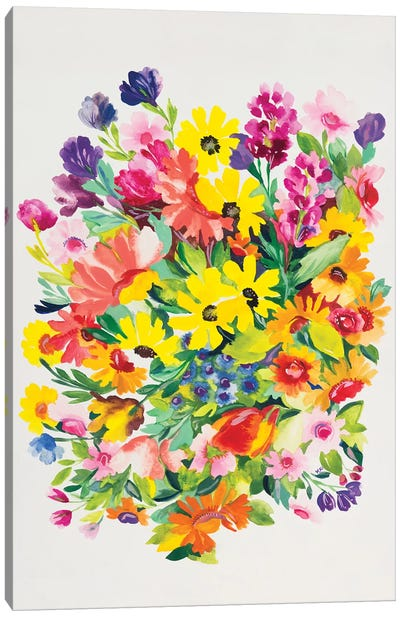 Snapdragons & Zinnias Canvas Art Print