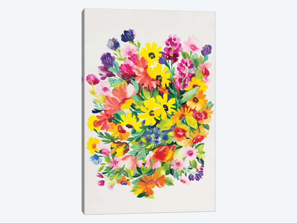 Snapdragons & Zinnias by Kim Parker 1-piece Canvas Wall Art