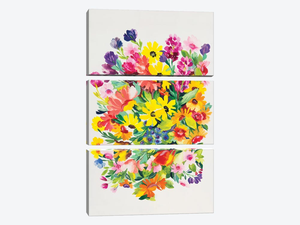 Snapdragons & Zinnias by Kim Parker 3-piece Canvas Artwork