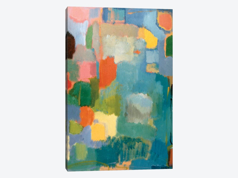 Color Essay In Turquoise by Kim Parker 1-piece Canvas Wall Art