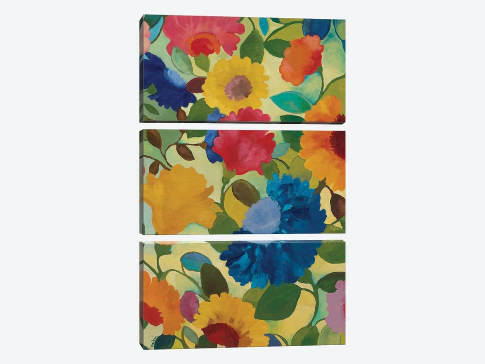 Love Flowers II by Kim Parker 3-piece Canvas Art Print