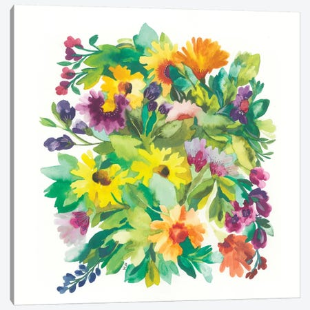 French Bouquet Canvas Print #KPA95} by Kim Parker Canvas Artwork