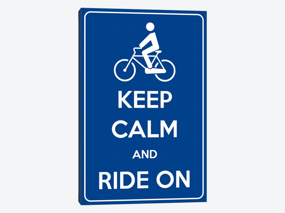 Keep Calm & Ride On by iCanvas 1-piece Canvas Print