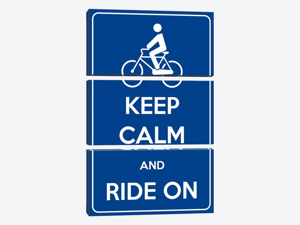 Keep Calm & Ride On by iCanvas 3-piece Canvas Print