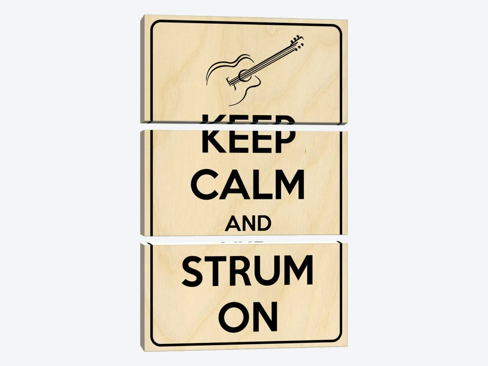 Keep Calm & Strum On by iCanvas 3-piece Art Print