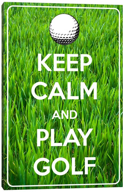Keep Calm & Play Golf Canvas Art Print