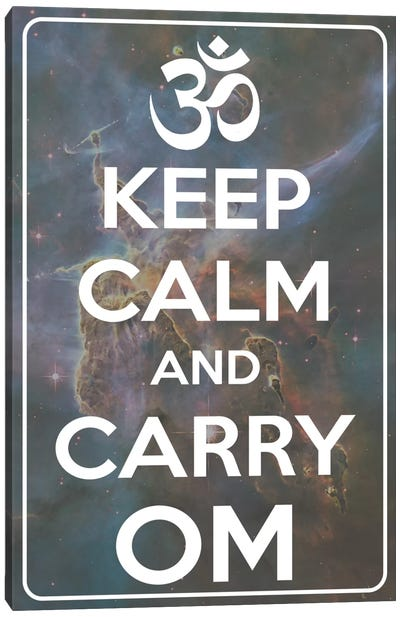 Keep Calm & Carry Om Canvas Art Print