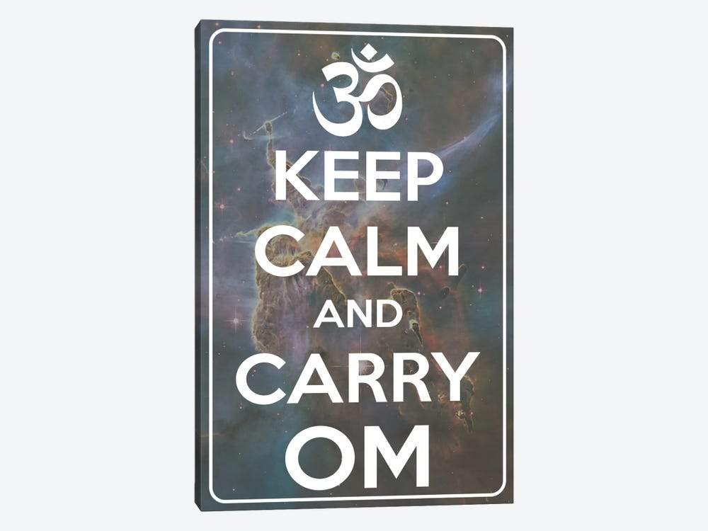 Keep Calm & Carry Om by iCanvas 1-piece Canvas Art