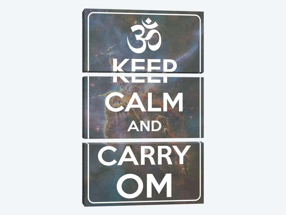 Keep Calm & Carry Om by iCanvas 3-piece Canvas Artwork