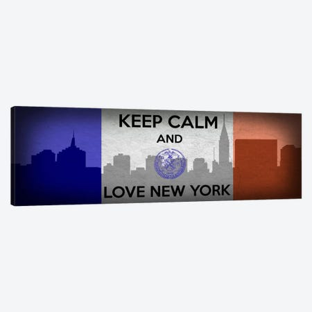 Keep Calm & Love New York Canvas Print #KPC32} by Unknown Artist Canvas Art Print