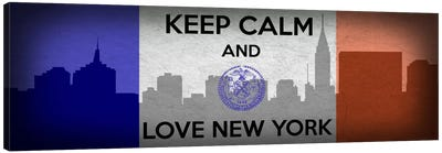 Keep Calm & Love New York Canvas Art Print