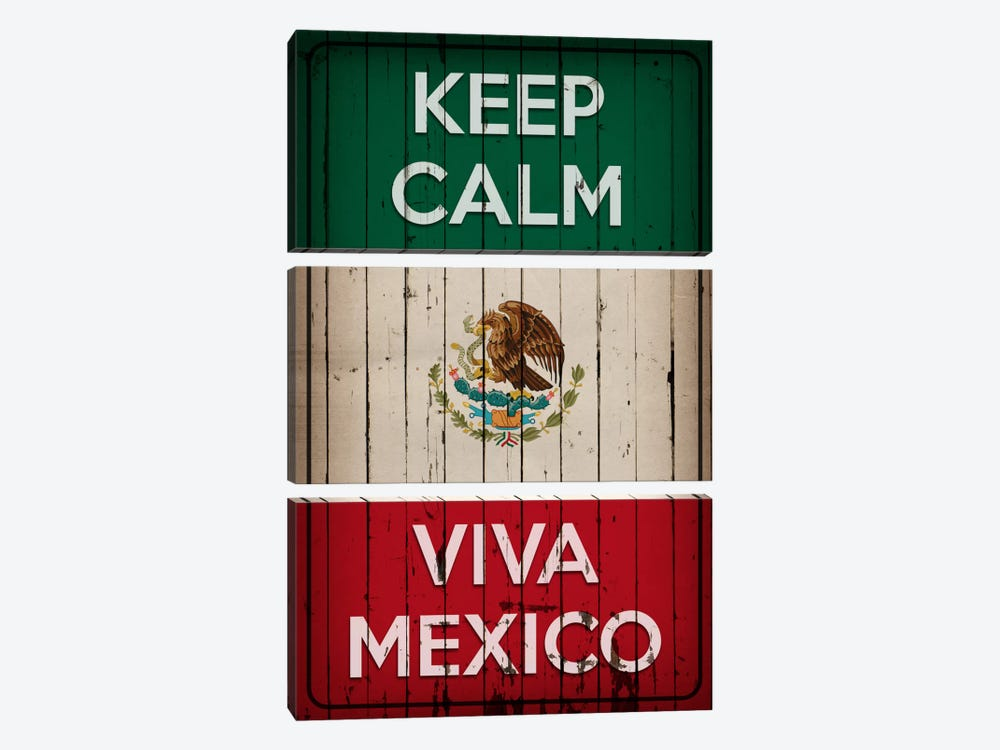 Keep Calm & Viva Mexico by iCanvas 3-piece Canvas Print