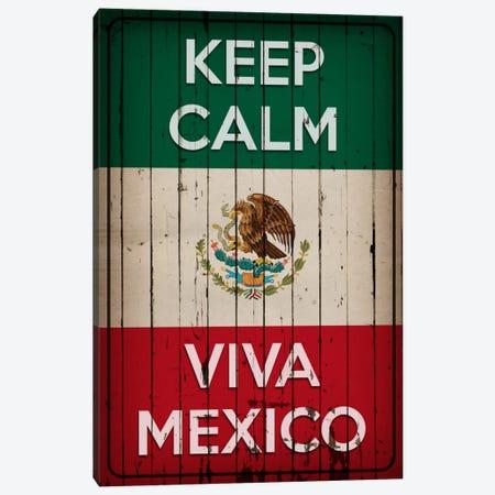 Keep Calm & Viva Mexico Canvas Print #KPC34} by Unknown Artist Canvas Wall Art