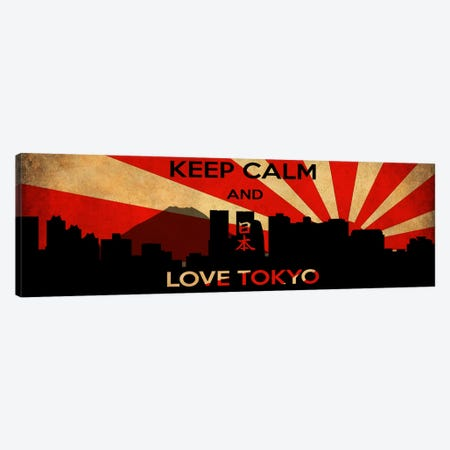 Keep Calm & Love Tokyo Canvas Print #KPC40} by iCanvas Canvas Art