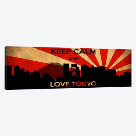 Keep Calm & Love Tokyo Canvas Print #KPC40} by Unknown Artist Canvas Art