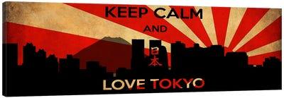 Keep Calm & Love Tokyo Canvas Art Print