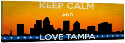 Keep Calm & Love Tampa Canvas Art Print