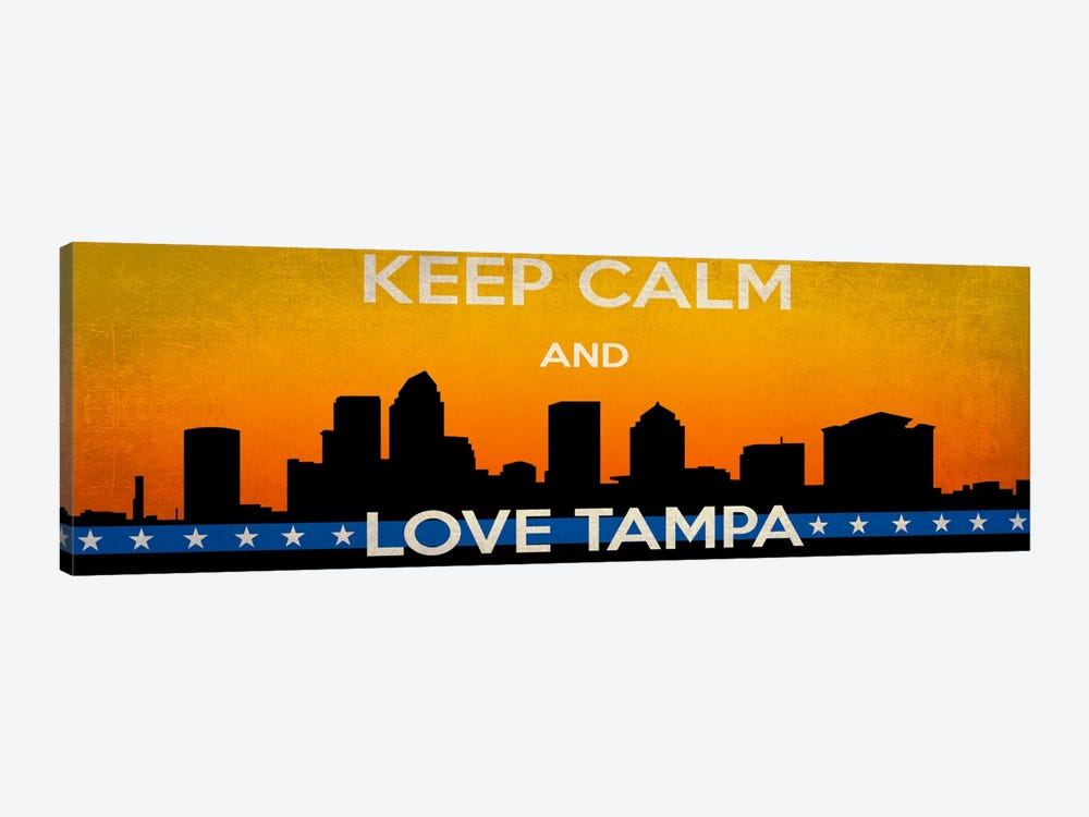 Keep Calm & Love Tampa by Unknown Artist 1-piece Art Print