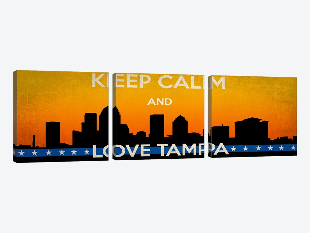 Keep Calm & Love Tampa by Unknown Artist 3-piece Canvas Print