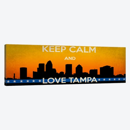 Keep Calm & Love Tampa Canvas Print #KPC41} by Unknown Artist Canvas Art