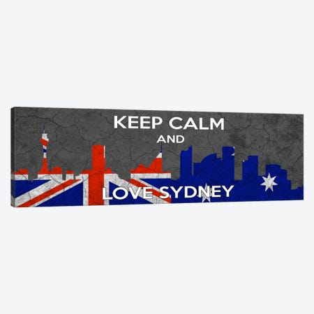 Keep Calm & Love Sydney Canvas Print #KPC42} by Unknown Artist Canvas Art