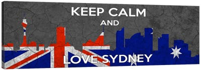 Keep Calm & Love Sydney Canvas Art Print