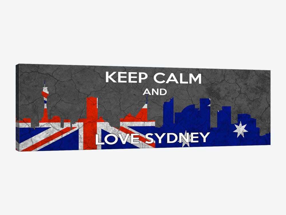Keep Calm & Love Sydney by iCanvas 1-piece Canvas Wall Art
