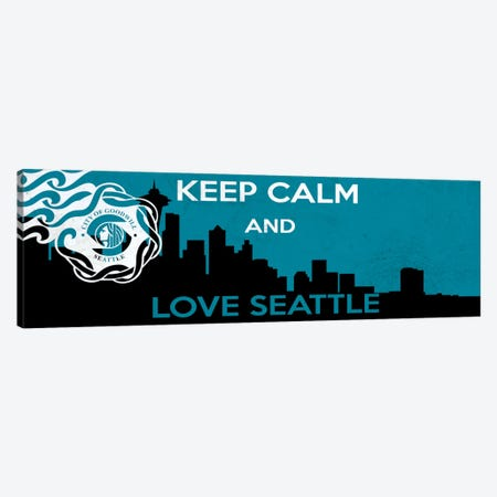 Keep Calm & Love Seattle Canvas Print #KPC43} by Unknown Artist Canvas Wall Art
