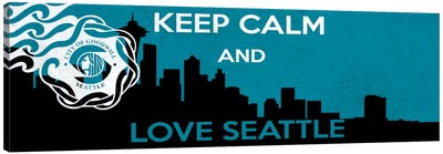 Keep Calm & Love Seattle Canvas Art Print