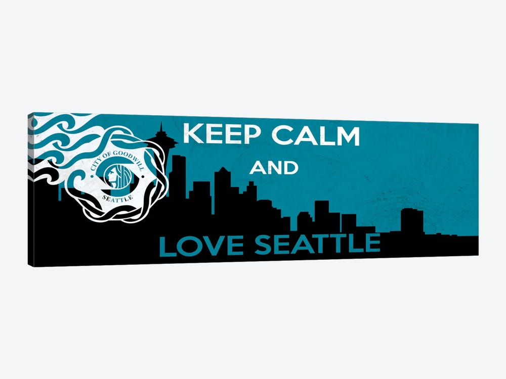 Keep Calm & Love Seattle by iCanvas 1-piece Canvas Art Print