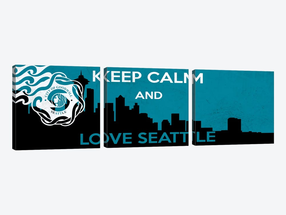 Keep Calm & Love Seattle by Unknown Artist 3-piece Art Print