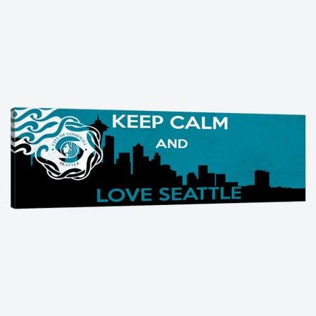 Keep Calm & Love Seattle Canvas Print #KPC43} by Unknown Artist Canvas Wall Art